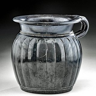 Lovely Campanian Black Glazed Vessel, ex Royal Athena