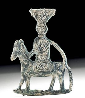 Eastern Roman Lead Votive Applique - Horse and Rider