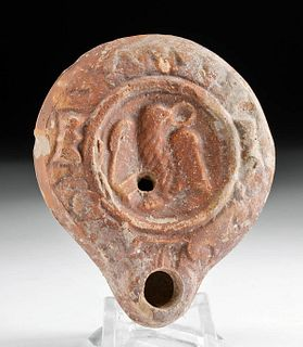 Roman Terracotta Oil Lamp w/ Eagle