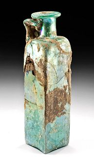 Tall Roman Glass Bottle w/ Nice Iridescence