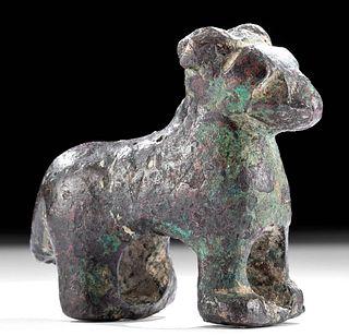 Roman Bronze Standing Ram Figurine