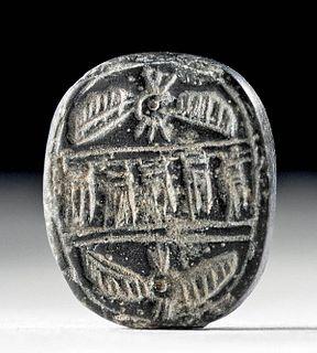 Achaemenid Stone Stamp Seal w/ Faravahar