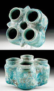 Islamic Glazed Pottery Spice Jar