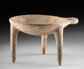 Rare Ancient Uzbekistan Pottery Tripod Vessel