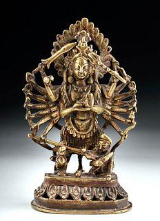19th C. Indian Brass Deity - Goddess Durga