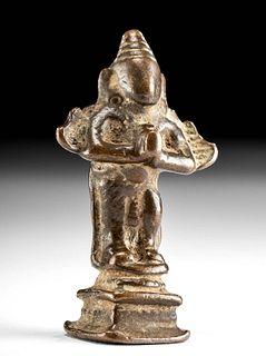 18th C. Indian Copper Alloy Standing Garuda