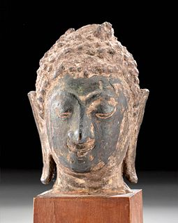 16th C. Thai Bronze Buddha Head