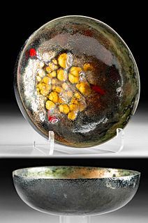 19th C. Japanese Glazed Bowl - Vibrant Colors!
