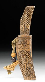 Early 20th C. Japanese Ainu Makiri /  Knife