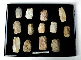 13 Native American Chert Gouges, Titterington / Sedalia