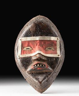 20th C. African Dan Wood Fire Mask (for a Zakpei Ge)