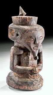Early 20th C. African Suku Wood Figure