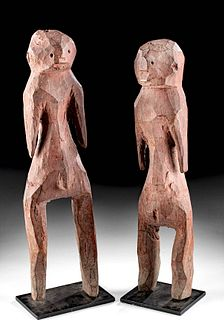 20th C. African Lobi-Mossi Wooden Couple