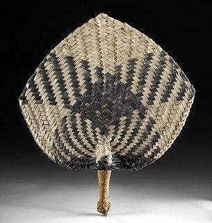 20th C. Fijian Coconut Leaf & Sennet Fan - Iri Buli