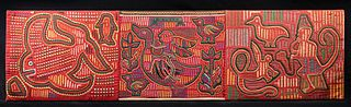 Huge / Vibrant 20th C. Panamanian Fabric Mola Panel