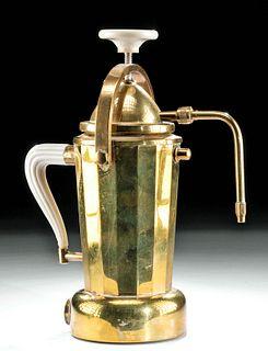 1960s Italian Bialetti Brass Espresso Maker
