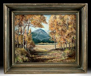 Signed William S. Green Landscape Painting, 1956