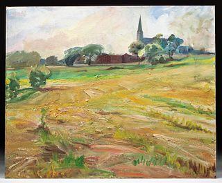William Draper Painting - Staten Island Church, 1970s
