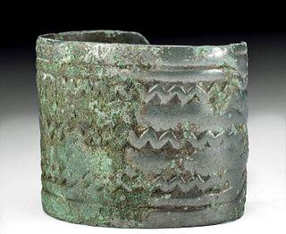 Fine Viking Bronze Bracelet, Bovine Creatures