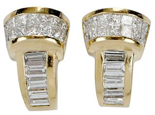 14kt. Diamond Earrings