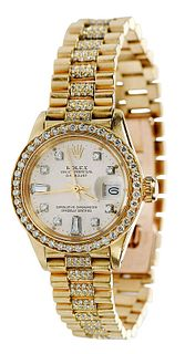 Rolex 18kt. Diamond Watch