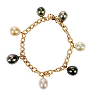 18kt. Pearl Bracelet