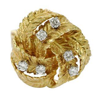 Retro 18kt. Diamond Ring