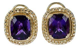 14kt. Amethyst Earrings