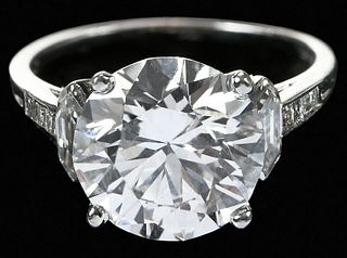 Tiffany & Co. 4.71ct. Diamond Ring