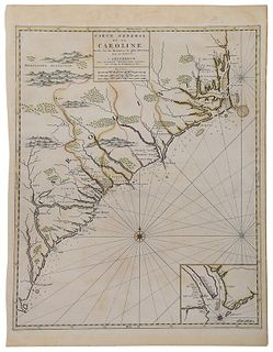 Mortier - Important Map of the Carolinas, 1696