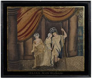 Eliza Ann Sloan Fine Silk Embroidered Picture