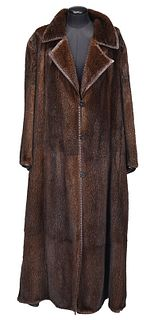 Full Length Fendi Mink Fur Coat