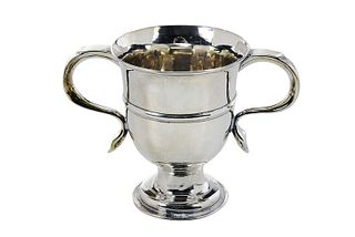 George III English Silver Two Handle Cup