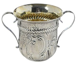 George III English Silver Porringer Cup
