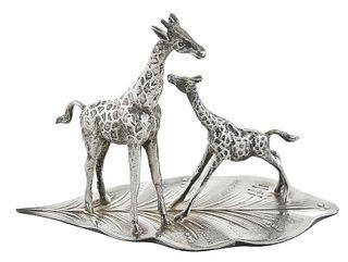 Cartier Sterling Giraffe Group
