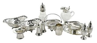 Thirteen Pieces Sterling Table Items