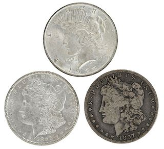 45 U.S. Silver Dollars
