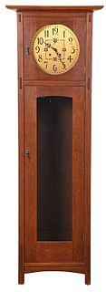 Arts and Crafts Style Stickley Tall Case Clock