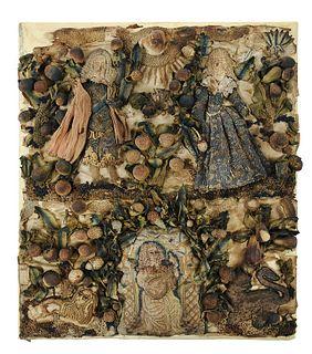 Charles II Raised Silk Needlework