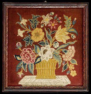 George II Wool Floral Needlework Panel