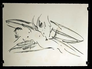 R. Nakian Lithograph, Leda and the Swan, 1980s - Proof