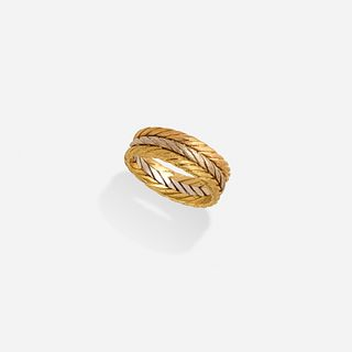 Buccellati, Tricolor gold band ring