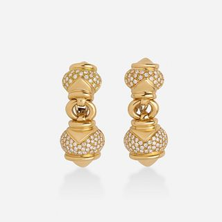 Bulgari, 'Doppio Cuore' diamond earrings