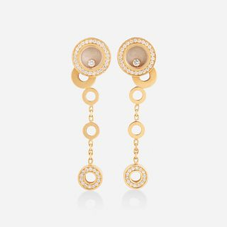 Chopard, 'Happy Bubbles' diamond and gold earrings