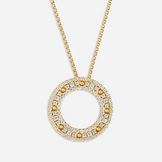 Roberto Coin, Gold and diamond necklace