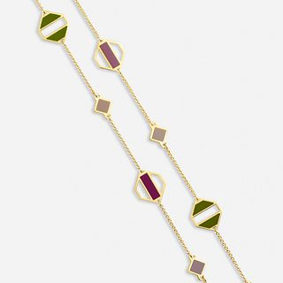 Paloma Picasso for Tiffany & Co., 'Zellige' gold and enamel necklace