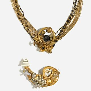 Maximal Art, Necklace and brooch