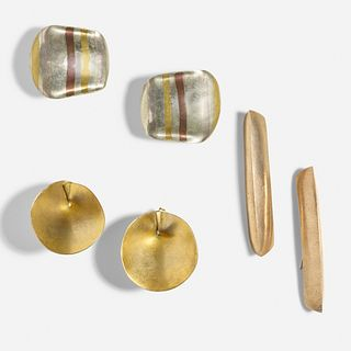 Group of sculptural jewelry