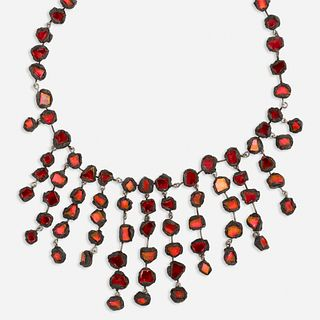 Line Vautrin, Red talosel mirror necklace