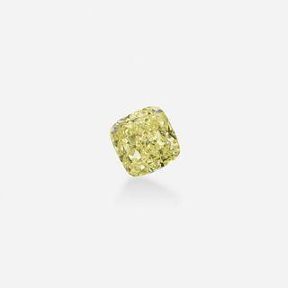 Unmounted fancy intense yellow diamond